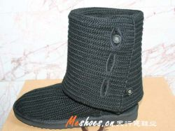 Classic Cardy botas negro Crochet