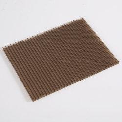 ورق بولي كربونات ذو جدار مزدوج 4 - 12 مم سمك مادة الصوبة ألواح شمس ورقة بني اللون البرونزي مواد خام 100% سعر جيد