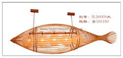 Lustre em tecidos de bambu nova casa de chá de estilo chinês do Sudeste da Ásia em estilo japonês escada de peixes criativa Luz Lightshade Bambu