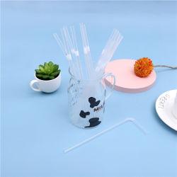 6*210mm Eco-Friendly pepinos curvos flexível embalada individualmente descartáveis de plástico reta transparente palha potável
