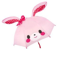 3D Paraguas de Conejo Rosa pop-up, Paraguas de orejas de Cartoon