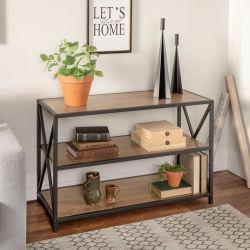 Mobili soggiorno in acciaio Libreria in legno e metallo