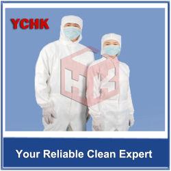 병원 또는 기업 또는 청정실 ESD 의복 정전기 방지 작업 바지 두건이 있는 일 의류 작업복 및 모자