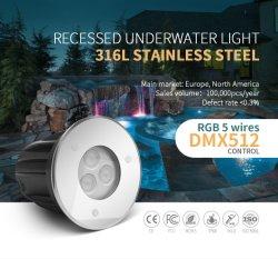 3 واط، IP68 LED، مقاومة للماء، إضاءة حوض السباحة تحت الماء