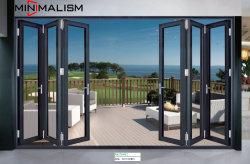 1.2-2.0 Espessura da porta de alumínio Bi-Fold/ Metal Fabricante com porta de correr/Giro/Pátio/Casement Porta de vidro