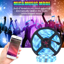 Smart flexible neón Flexible SMD 5050 exterior 10m RGB LED luces tiras Waterproof