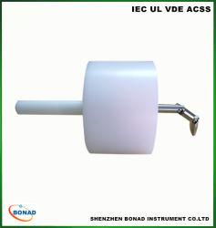 La norme CEI 60335-2-14 125mm doigt tordu de sonde de test de transmission pour les tests des mélangeurs