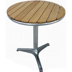 El restaurante Patio al Aire Libre de peso ligero de madera Muebles de comedor plegable Tabla de inicio (DT-06260R3).
