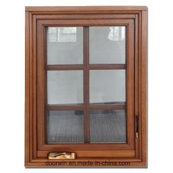 USA & Europe Hoge kwaliteit Larch / Pine / Oak Wood Aluminium Window, massief houten venster met aluminium bekleding van buitenaf