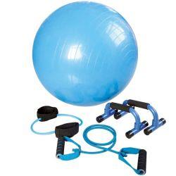 l'insieme di yoga 4in1 compreso i tubi di forma fisica della sfera di yoga e spinge verso l'alto le barre