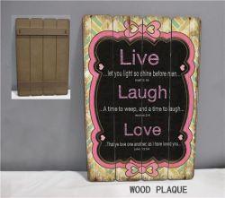 Placa de madeira pintados à mão artesanato em madeira com dizendo