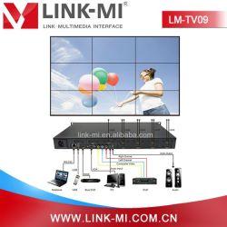 Lm-TV09 HDMI/CVBS/VGA/USB dans mur vidéo HDMI OUT Processeur 3X3 du contrôleur de mur vidéo