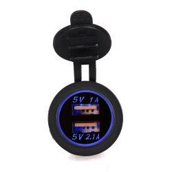 5V 3.1A는 접합기 USB 차 충전기 힘 접합기 출구 차 담배 점화기 소켓 쪼개는 도구 유니버설 이중으로 한다