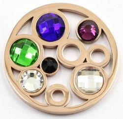 Meilleure vente de pièces en acier inoxydable de la plaque avec des pierres