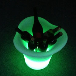 LED Lighted Ice Bucket、GlowingおよびBattery Container