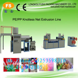 Seule Tête/trois couleurs Knotless Net Machine d'Extrusion