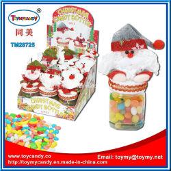 Conteneur de Noël avec des fruits de bouteille de bonbons candy