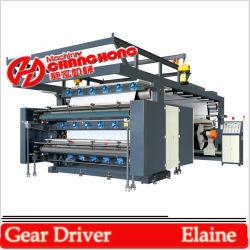4 Цвет с высокой скоростью печати Flexographic машины косозубой шестерни