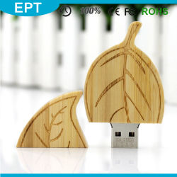 O formato de folha de madeira logotipo personalizado unidade Flash USB (TW074)
