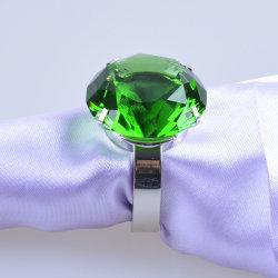 테이블 장식의 크리스탈 다이아몬드 냅킨 링
