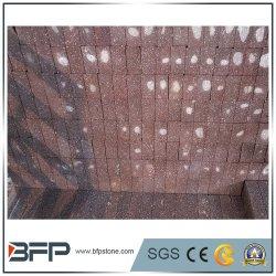 Jardin naturel de granit rouge/ Cube/Flag/freiner/blind/forme/du ventilateur de pavés pour l'aménagement paysager
