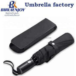 Entièrement automatique Windproof Parapluie de voyage compact noir pour la voiture/Man