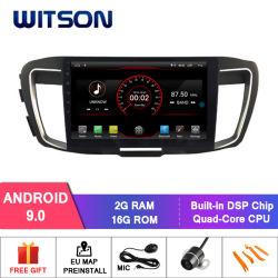 GPS van de Speler van de Auto DVD van het Scherm van de Kern van de Vierling van Witson Grote voor Honda Accord 9 (2.4L Motor)