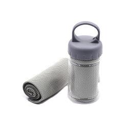 Plastiek van de Handdoek van het Strand van de Opdracht van Microfiber van de Polyester van de Opdracht van de Stijl van de bevordering het Commerciële Nieuwe Blauwe Beste Onmiddellijke Koel