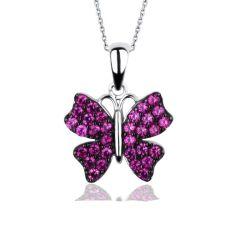 Colgantes de plata esterlina 925 CZ joyas de moda colgante Charms joyas al por mayor colgantes mariposa