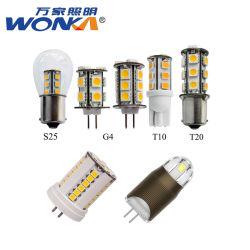 Factory Direct LED 12V BA15S/G4/T10/T3 pour lampe de feu de mur Luminaire de lavage