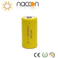 NiCd/Ni-CD de Navulbare Batterij van C 1.2V 2500mAh