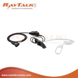 デジタル手持ち型のラジオのためのヘッドセット及びアクセサリのナイロンによって包まれる音響の管の受話口の携帯無線電話のヘッドセット