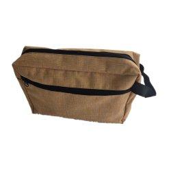 Os homens de couro de poliéster Canvas saco cosméticos com logótipo próprios sacos de Lavagem