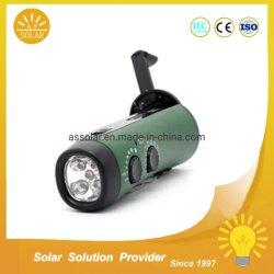 مصابيح الكشاف الشمسية المحمولة مع الراديو ومصابيح التدوير اليدوي للمخيّم