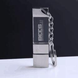 Schlüsselring Kristall-USB-Stock Soem-Kristallglas-Schlüsselkette USB Pendrive