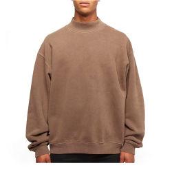 OEMの高品質の100%年の綿の羊毛の厚地の特大擬似首のスエットシャツ
