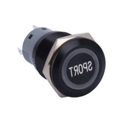 19mm 12V Orange Car Modify Electric Harness Sport Tastbetätigung LED Beleuchtung aus Elektrischer Schalter und Steckdose