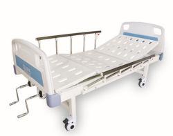 Две функции ручной больничной койке с АБС изголовье кровати и ролики