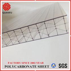 Policarbonato com proteção UV Quanfu Multi-Wall Folha oca para material de construção