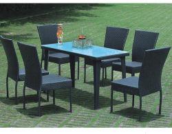 Mode d'Osier en rotin Météo Jardin meubles de jardin Chaise de salle à manger canapé et table avec une haute qualité