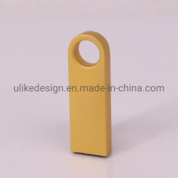 Aandrijving van de Flits van de Stok USB van de Vorm USB van het Metaal van de Kleur van het Metaal van het Embleem van de douane de Gouden Zilveren Kleine (ul-M012)