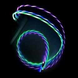 Het LEIDENE het Lichte Stromende Zichtbare Laden van de Lader USB Koord van de Kabel voor iPhone 8 X 7 6 5 Micro- USB Androïde Type C