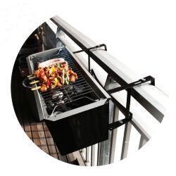 携帯用ステンレス鋼のバルコニーのハングの木炭バーベキューのグリル