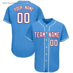 Bordados de alta qualidade, respirabilidade V-Pescoço Ginásio Beisebol Shirts Vestuário