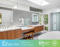 Estilo moderno de armários de contraplacado vaidade personalizados PVC Madeira armário de banheiro