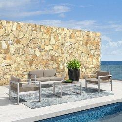 Muebles de jardín de ocio de Patio de aluminio silla sofá