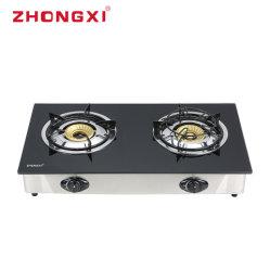 Vidro de mesa fogão fogão fogão a gás de queimadores 2 (Jz-X201A)