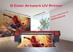 Los rayos UV de rollo a rollo CMYK LC Lm Barniz blanco 8 Impresora de Color