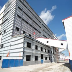 Prefabricated 가벼운 강철 구조물 건축 창고 건물