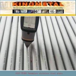 Tuyau en acier inoxydable sans soudure selon la norme ASTM A312/A213 TP 304, 316, 32205, 32750,